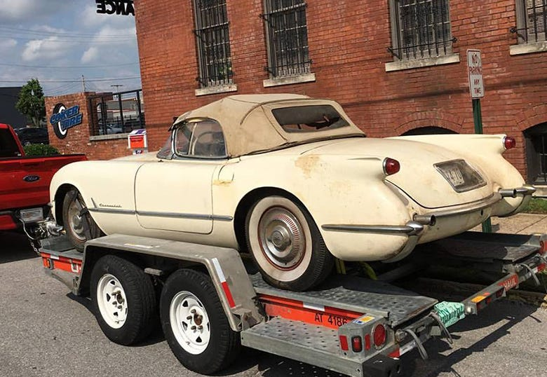 Epic 1954 Corvette Barn Find