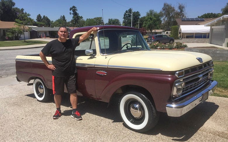 Ford F100 truck happy customers