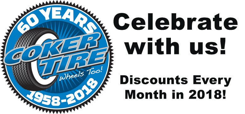 Coker Tire Celebrates 60th Anniversary in 2018