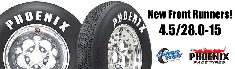 New Phoenix 4.5/28.0-15 Front Runner Tire