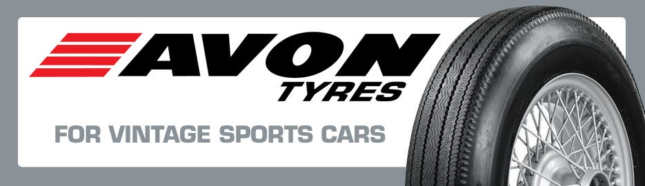 Now Offering Avon Tires for Vintage Sports Cars
