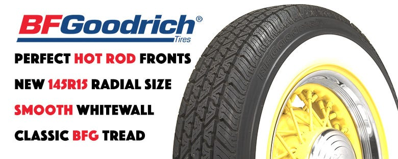 *New Size* BF Goodrich Silvertown 145R15 Whitewall Radial Tires