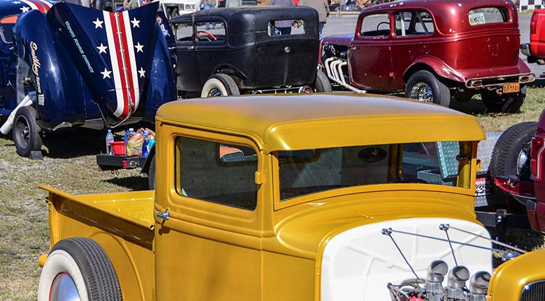 A Trio of Traditional Hot Rods at the Paradise Show N Go