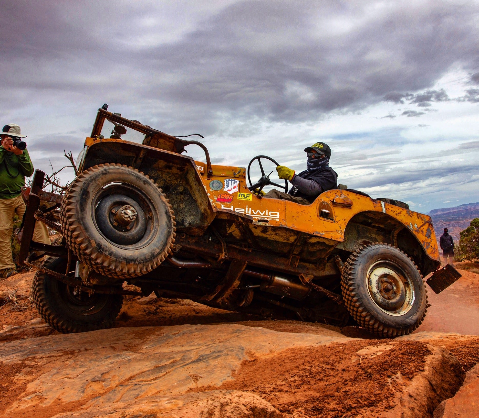 Firestone Knobby Tires on Mike Hallmark's Moab-Conquering 1948 Willys CJ2A