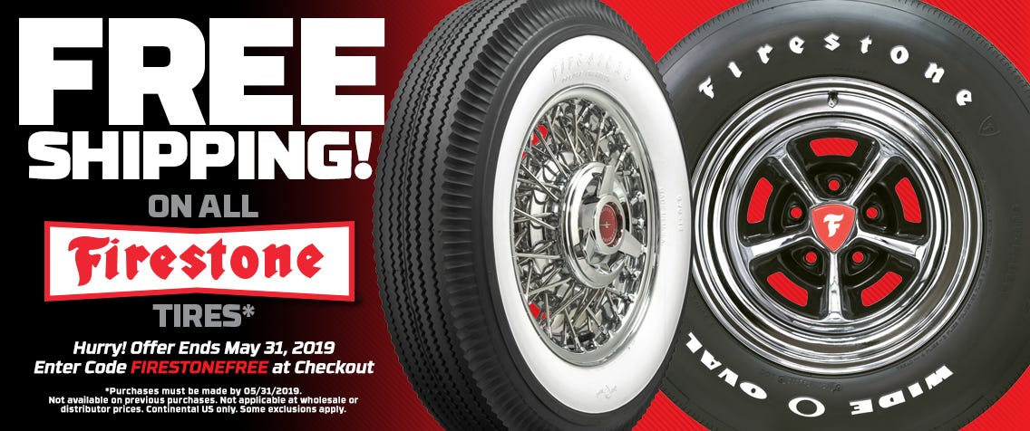 FREE Shipping on Firestone Brand Tires!