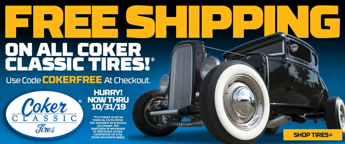 Get FREE Shipping on Coker Classic brand tires this month with code COKERFREE at checkout!