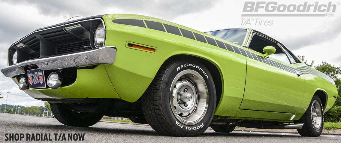 Shop BF Goodrich T/A Radial tires for Muscle Cars.