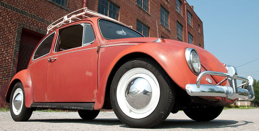Firestone F560 Radial on a Volkswagen Beetle