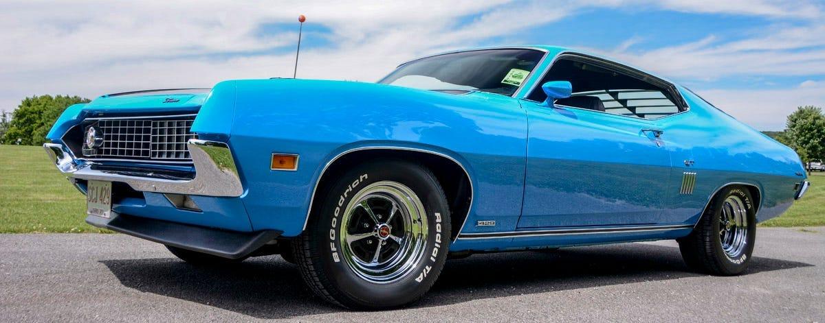 1970 Ford Torino Drag Pack tires