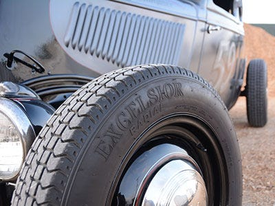 1934 Ford Coupe with Excelsior Stahl Sport Radial Tires