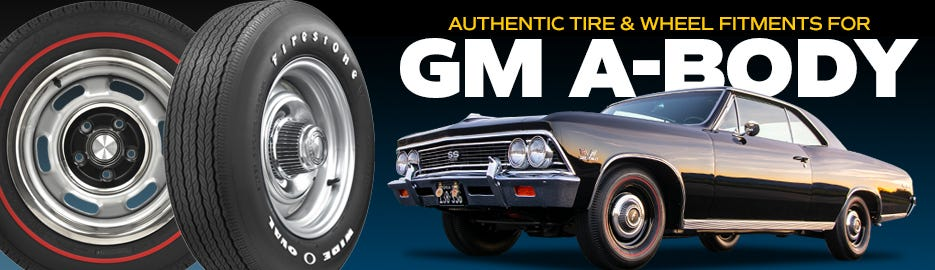 Authentic GM a-Body Tire & Wheel Fitments