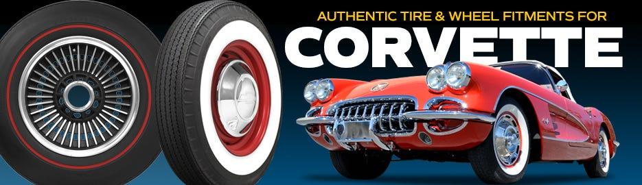 Authentic Classic chevrolet Corvette Tire & Wheel Fitments