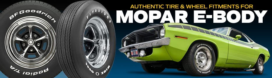 Authentic MOPAR e-Body Tire & Wheel Fitments