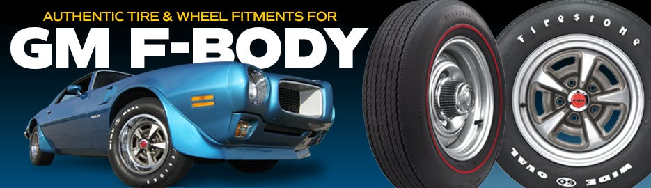 Authentic GM f-Body Tire & Wheel Fitments