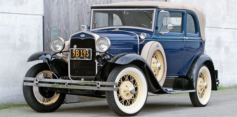 1931 Ford Model A with Firestone Bias Ply Whitewall Tires