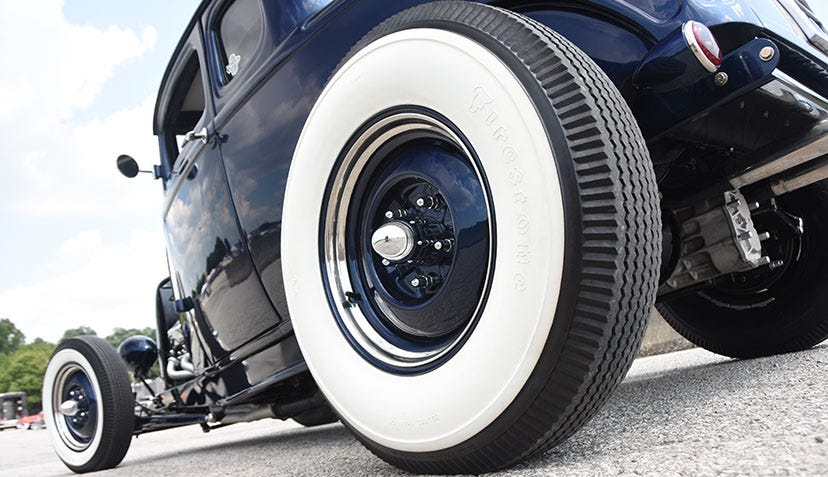 1932 Ford Coupe with Firestone Bias Ply Whitewall Tires
