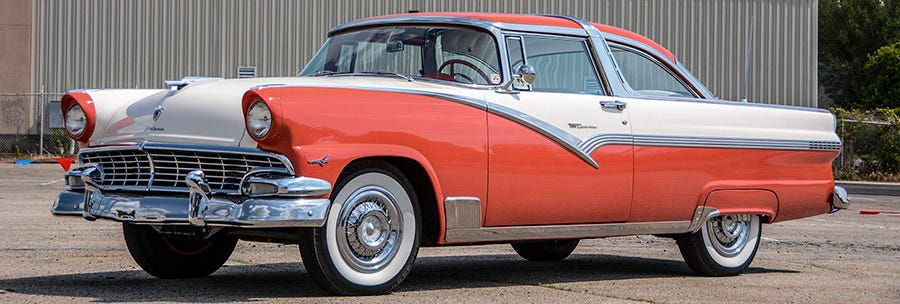 1957 Chevy Bel Air whitewall tires