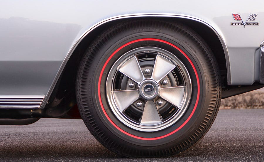 1966 Chevelle SS396 redline tires mag wheel covers