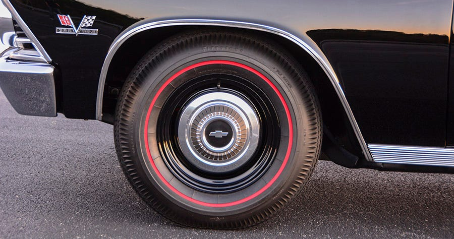 1966 Chevelle tires and wheels