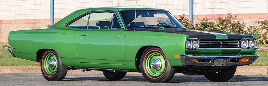 1969 Plymouth Road Runner tires
