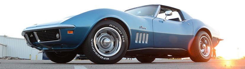 1969 Chevrolet Corvette with BFGoodrich® Radial T/A Tires