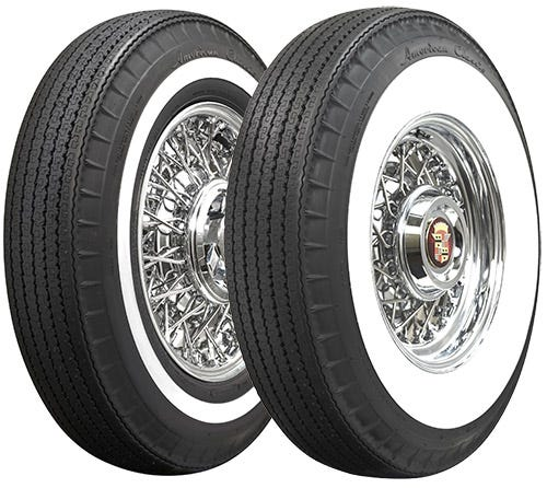 American Classic whitewall radial tires