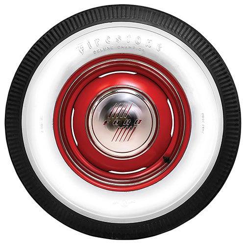 Firestone deluxe champion whitewall bias ply tire