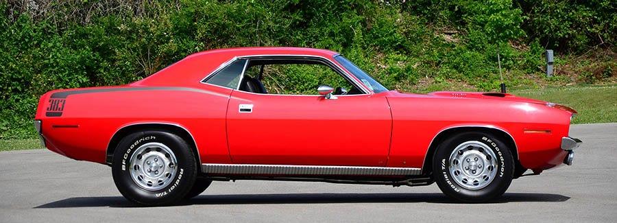 Plymouth 'Cuda tires